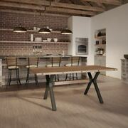 Amisco Laredo Dining Table With Distressed Solid Wood Top