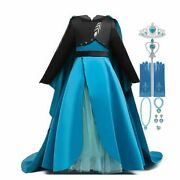 Anna Costumes Kids Party Clothes Baby Girl Children Dress Up Fancy Dresses 2-12t