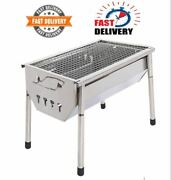 Charcoal Tabletop Portable Stainless Steel Folding Bbq Camping Cooking Small