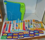 Leap Frog Leappad Learning System Model 57-000-01 With 14 Books And 15 Cartridges