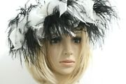 Vintage Joe Bill Miller Black And White Feather Womenand039s Hat
