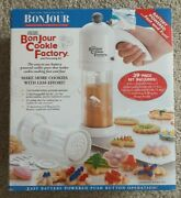 New Bonjour Cookie Factory And Decorating Kit 39 Piece Battery Operated Press