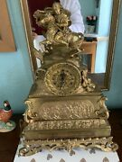 Magnificent And Extremely Rare Gilt Bronze Chain Fusee Verge Clock By Leroy