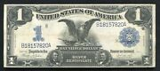 Fr.233 1899 1 One Dollar Andldquoblack Eagleandrdquo Silver Certificate Currency Note Vf+ B