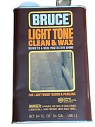 Vintage Discontinued Bruce Light Tone Clean And Wax 64 Fl Oz