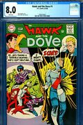 Hawk And The Dove 1 Cgc Graded 8.0 - Second Ever Appearance - White Pages