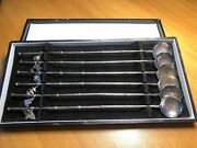 Sterling Silver Japanese Iced Tea Teaspoons Boxed Set W Charms 950 Sterling
