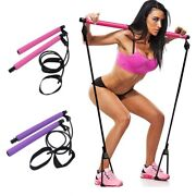 Body Building Puller With Resistance Band Fitness Pilates Yoga Gym Workout Stick