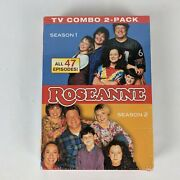 Roseanne Tv Combo Dvd Pack Season 1 And 2 47 Episodes New