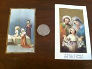 2 Vintage Religious Prayer Cards 1938 And 1962 Great Collectibles