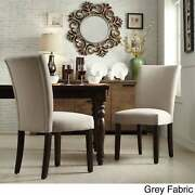 Catherine Parsons Dining Chair Set Of 2 By Inspire Q Bold Grey Fabric Dining C