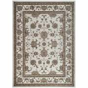 Admire Home Living Plaza Traditional Oriental Floral Scroll Bone 5'5 X 7'7/sur