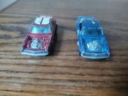Hot Wheels Redlines Heavy Chevy 1969 Red And Blue Made In Hong Kong Lot Of 2