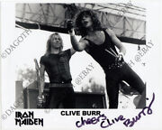 Iron Maiden 8x10 Photo Clive Burr Run To The Hills Number Beast Autograph Signed