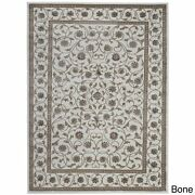 Admire Home Living Plaza Traditional Oriental Floral Scroll Bone 7'10 X 10'2/s