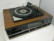 Vintage Sound Design 4769 Home Stereo Phono Turntable Fm Stereo Receiver 8-track