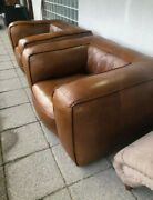 Stunning Pair Timothy Oulton Large Scruffy Armchair Chestnut Brown - Delivery 🚚