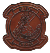 4.5 Marine Corps Vmm-166 Friday Seaelk Wing Squadron Antique Look Leather Patch