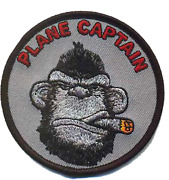 Marine Corps Vmm-263 Plane Captain Ape Qual Hook And Loop Round Embroidered Patch