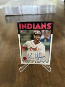 2021 Topps Series 1 Kenny Lofton Indians '86 Topps Auto On Card 86a-kl
