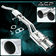 3.5 Dual Tips S/s Catback Exhaust System For 89 90 91 92 93 94 Nissan 240sx S13