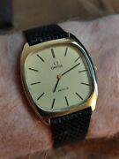 Omega De Ville Hand Wind Cal.625 Menand039s Watch Gold Dial Extra Strap