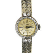 18k Yellow And White Gold Vintage Womenand039s Rolex 18jewels 24.4g
