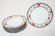 And Company American Garden Dinner Plates Set Of 8 Limoges Free Usa Ship