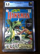 Brave And The Bold 34 1961 - 1st Hawkman And Hawkgirl - Cgc 5.5 - Key
