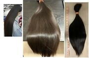 Human Hair Cut 20 Inch From Asian Female, Straight Black With Sun Red Hue Hair
