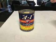 Vintage A-1 Paint And Varnish Enamel Can Paint Advertising Standard Brands 18/p90