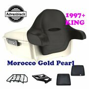 Morocco Gold Pearl King Tour Pack Trunk Black Hinge And Latch Fit 1997-2020 Harley