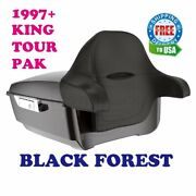 Black Forest King Tour Pack Pak Fit 97-20 Harley Street Road Electra Touring