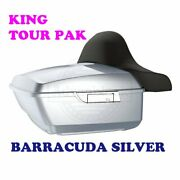 Barracuda Silver King Tour Pack Pak Fit 97-20 Harley Street Road Electra Touring