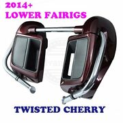 Twisted Cherry Lower Fairings Kit Fit 14+ Harley Road Street Electra Touring