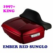 Ember Red Sunglo King Tour Pack Pak Fit 97-2020 Harley Street Road Electra Glide