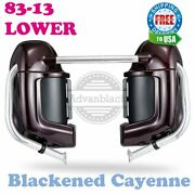 Blackened Cayenne Lower Vented Fairing Glove Box Fit Harley Road Glide 1983-2013