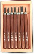 High-class Sword, Left-handed Wood Carving Blade, 7-piece Set, Made In Japan Cho