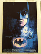 Batman 89 - Rare Screen Print Poster By Hans Woody / Private Commission P.p.