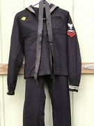 Vtg Wwii 40and039s Us Naval Cracker Jack Navy Uniform Small