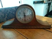 1900s Sessions El Bonito 60 Cycles 2 Rod Chime Tambour Electric Mantle Clock
