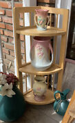 Vintage Original Hull Pottery Vase Collection Of 3 Items