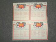 1979 Ringling Bros And Barnum And Bailey Circus Tour Route Cards 1-4red Unit