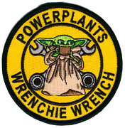 Marine Corps Mals-29 Baby Yoda Wrenchie Powerplants Hook Loop Embroidered Patch