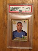 2018 Panini World Cup Kylian Mbappe Stickers Gold Psa 10 Low Pop