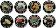 Malawi Endangered Frogs Set 8 Coins 10 Kwacha 2010 Proof Color Coin