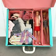 Original 1950s/'60s Barbie And Ken Dolls W/ Case, Clothes And Accessories
