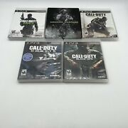 Call Of Duty Advanced/ Modern Warfare 2 Steelcase And 3 Ghosts Black Ops Ps3