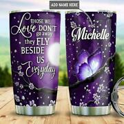 Butterfly Vacuum Thermos Insulated Tumbler Personalized Gift For Butterfly Lover