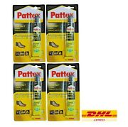 4 Pcs Pattex Adhesive Fixer Leather Shoe Repair Glue Sole Boots Heel Rubber 40g